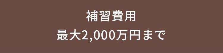 補習費用 最大2,000万円まで
